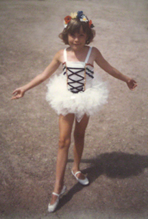 tiny dancer, Kate, about five years old