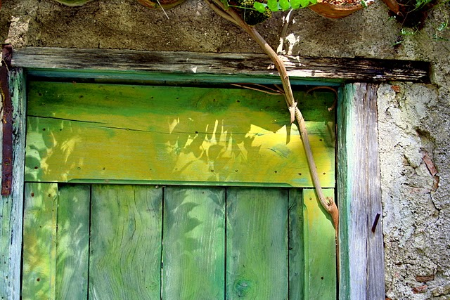 Door on a path in Durfort, France. photo by Doriot Lair 2010