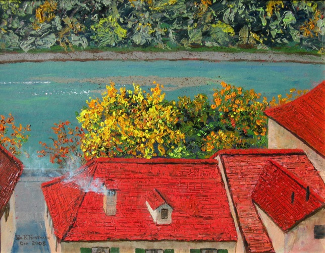 October in Bern, painted by William K. Hartmann