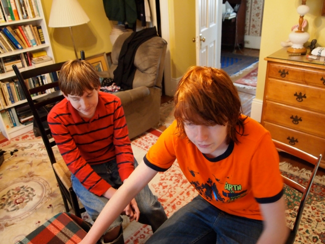 Evan and Liam in New Orleans, at Christmas, 2010