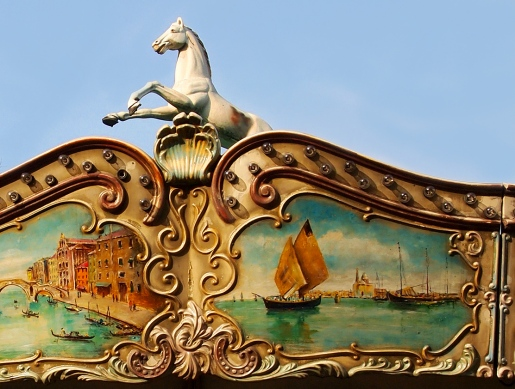 Horse and Venetian Carousel in Paris, photo by Kate McKinnon, 2011