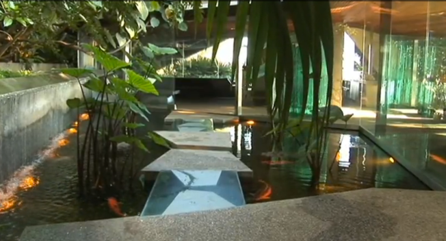 Detail of a John Lautner house from the film Infinite Spaces: The Architecture of John Lautner