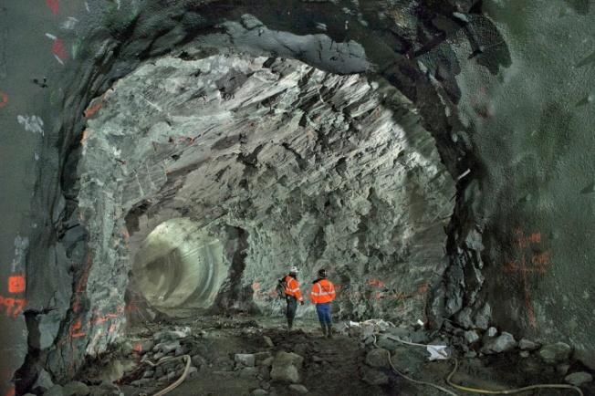 NY Underground Tunnels, photo by PATRICK CASHIN / METROPOLITAN TRANSPORTATION AUTHORITY, as published in Time Magazine