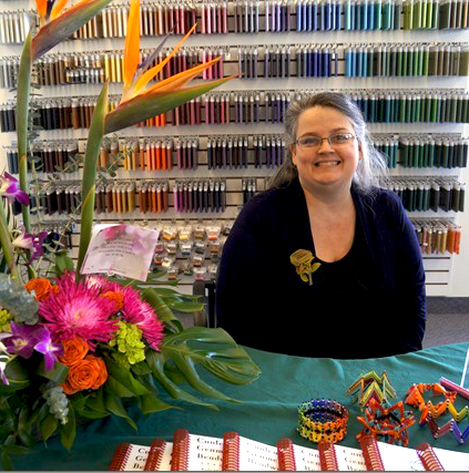 Christina Vandervlist at That Bead Lady's  Book Launch party and workshop, March 2013