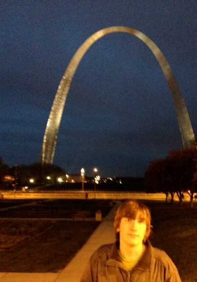 Evan and the Arch, April 2013