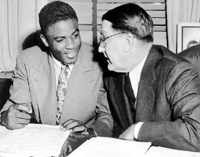 AP photo, Jackie Robinson and Branch Rickey