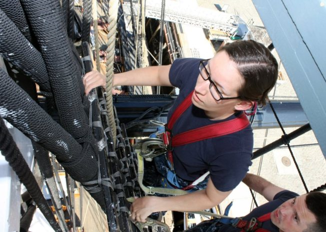 Scaling the Mizzenmast