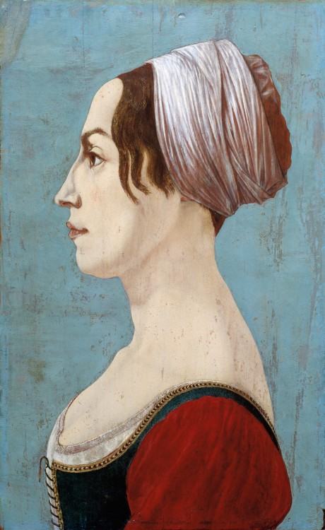 1351, Profile Portrait of a Woman 1490s Piero del Pollaiolo, Italian, 1443-1496