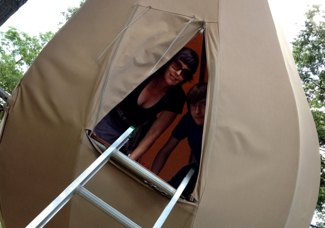 Kate and Evan in Laumeier Nest