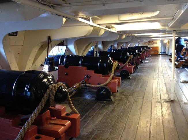 USS Constitution gun deck