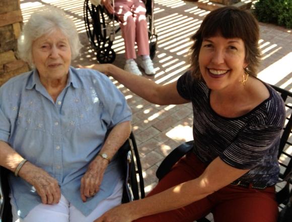 Grandma Dena and Kate July 2013