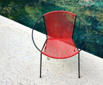 Red Chair and Pool
