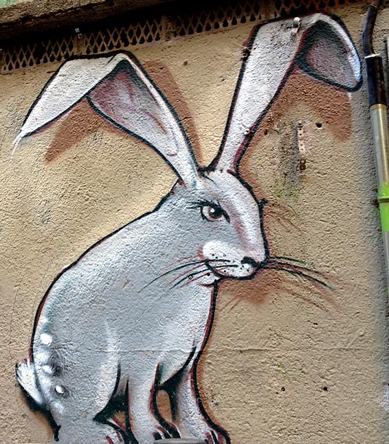 Barcelona36: Street Art, rabbit