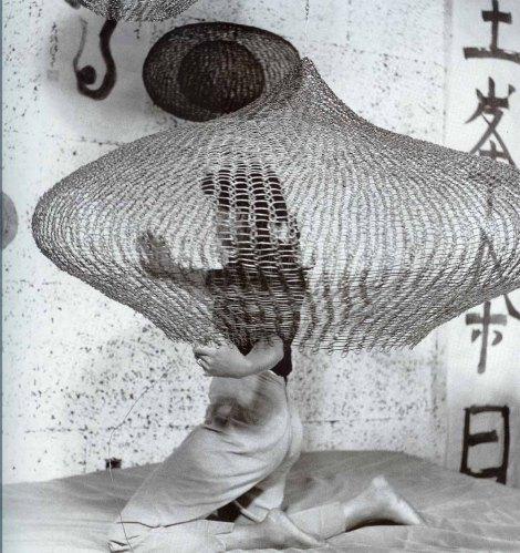 Ruth Asawa working