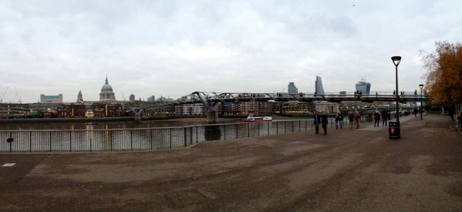 Thames panorama, Kate McKinnon, Nov 2013