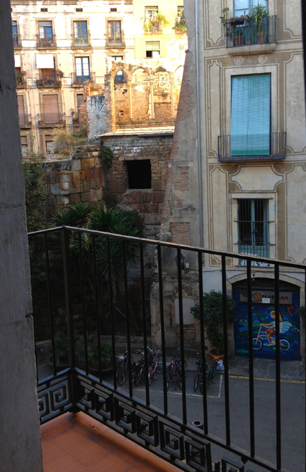 View from bedroom terrace in Barcelona