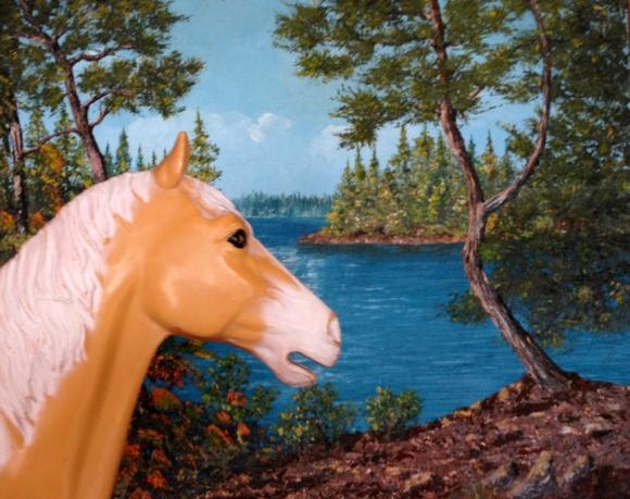 Horse in Grandmas mountains
