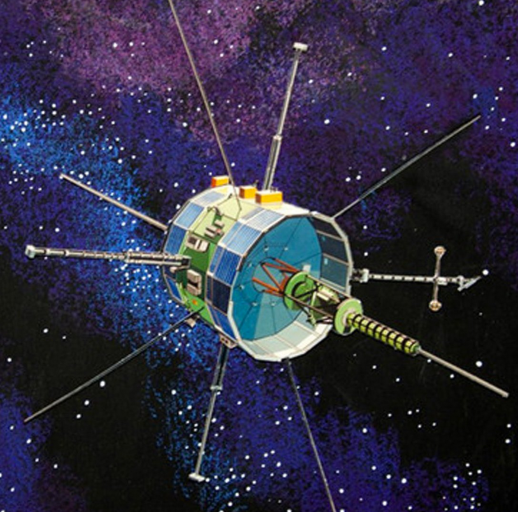 An illustration of the International Sun-Earth Explorer-3, which was launched in 1978. Credit NASA