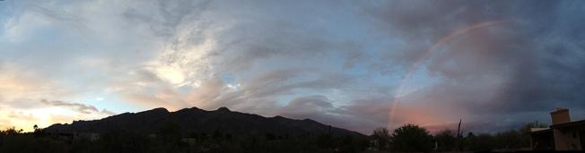 Tucson Sunset and Rainbow Kate McKinnon