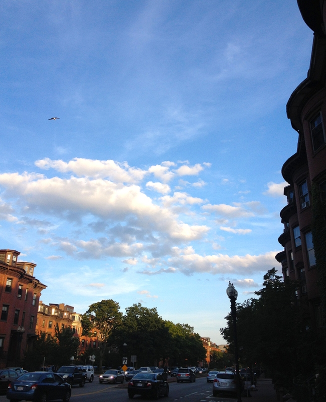 Boston skies