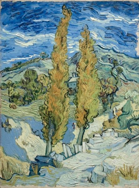 The Poplars at Saint-Remy Van Gogh Oct 1889