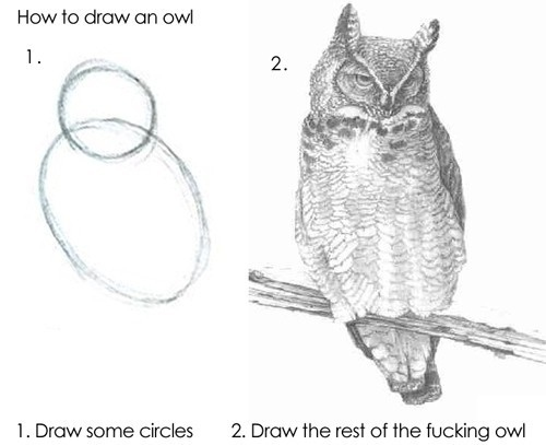 draw the fucking owl