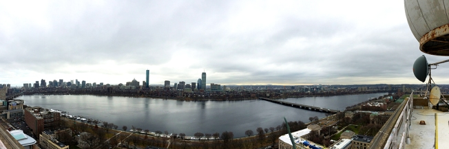 Boston skyline from Green building