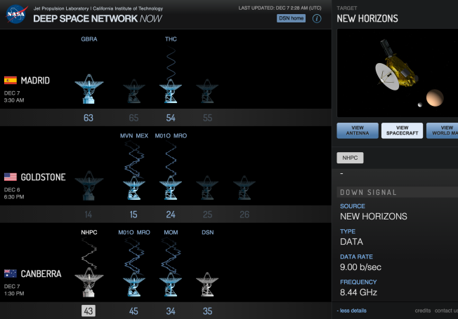 DSN getting Pluto wakeup call