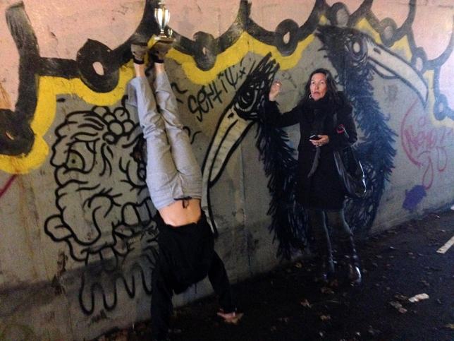 Handstand In Muck