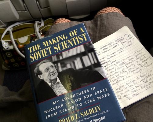 sagdeev on the train