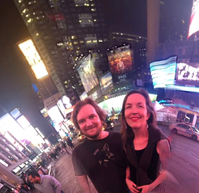 Kate and Ryan Times Square by Carter