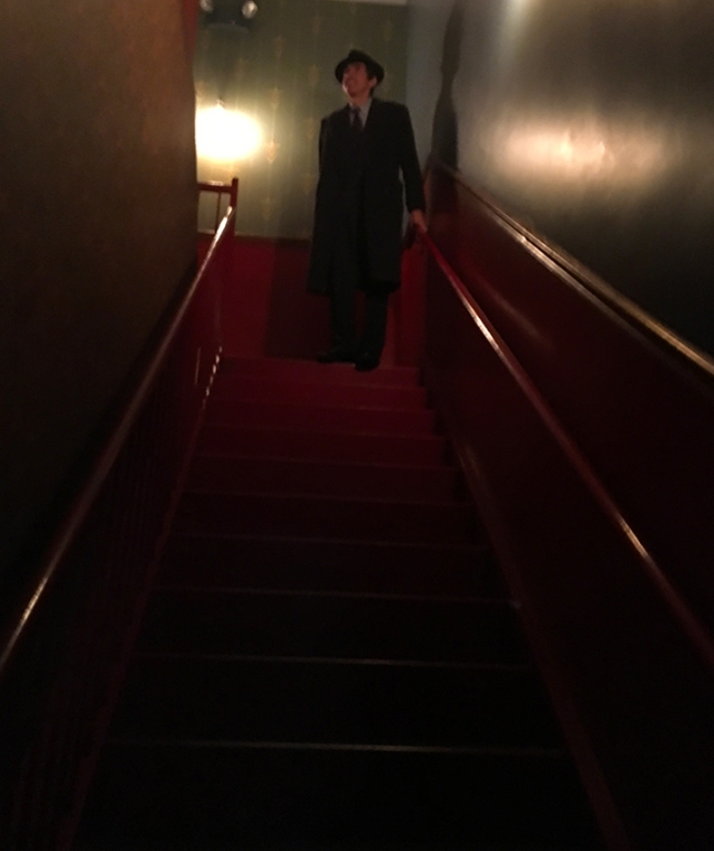 Man On Stairs At Slipper Room