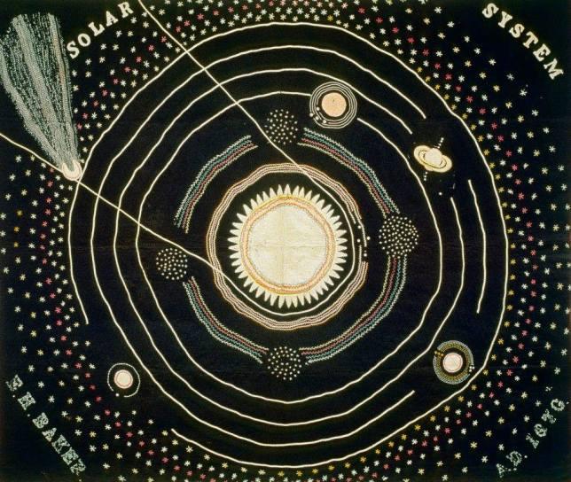 Ellen Harding Baker. Solar System Quilt 1876